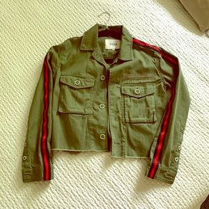 Pistola cropped military-inspired jacket